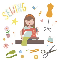 Sewing clip art vector