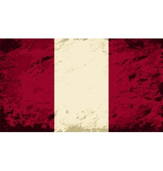 Peruvian flag grunge background vector
