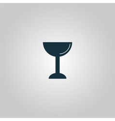 Drink wineglass vector