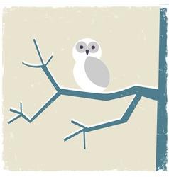 Snowy white owl vector