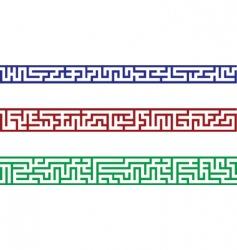 Maze border vector