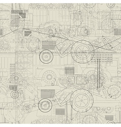 Industrial vehicles pattern vector