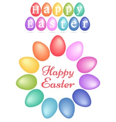 Colorful easter eggs set vector