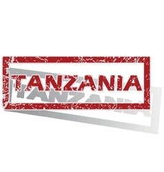 Tanzania outlined stamp vector
