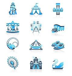 Attraction icons - marine series vector