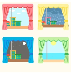 Set of four windows vector