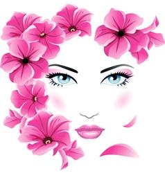 Girl floral vector