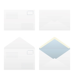 Four types of postal envelopes vector