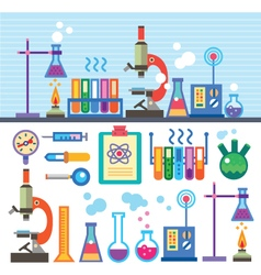 Chemical laboratory in flat style vector