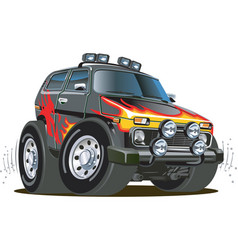 Cartoon jeep vector