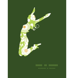 Green and golden garden silhouettes jumping vector
