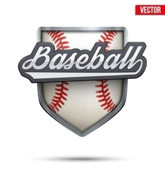 Premium symbol of baseball label vector