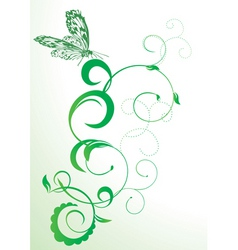 Butterfly and flourishes abstract vector vector
