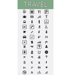 Travel pictograms set vector