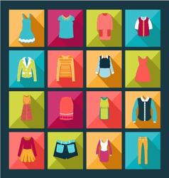 Fashion clothes in flat design style vector