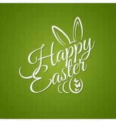 Easter vintage lettering design background vector