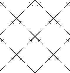 Sword seamless pattern vector