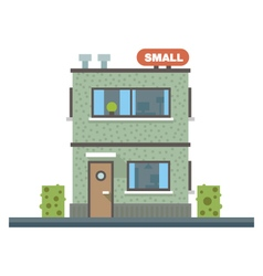 Small business center offices vector