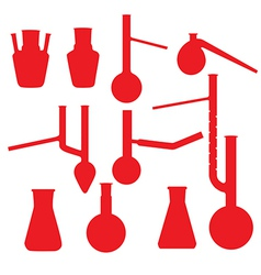 Chemistry lab glasses collection vector