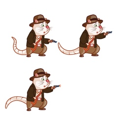 Adventurer rat shooting pistol sprite vector
