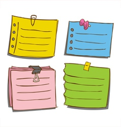 Paper memo notes vector