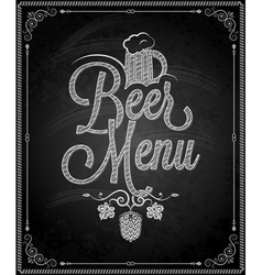 Chalkboard beer vector
