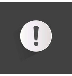 Exclamation danger web icon vector