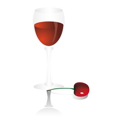 Goblet with cherry vector