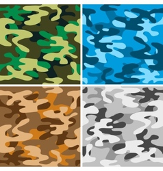 Camouflage backgrounds vector