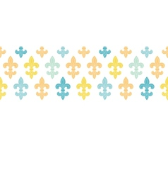 God and blue lily horizontal seamless pattern vector