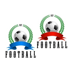 Football or soccer retro emblem vector