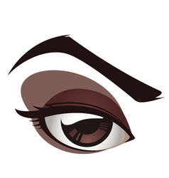 Sexy female eye vector