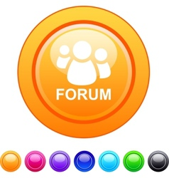 Forum circle button vector