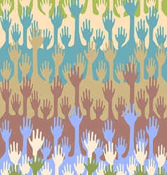 Seamless hands background vector