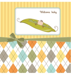 Little boy sleeping in a pea been baby vector