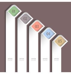 Trendy vertical design template vector