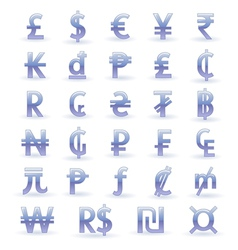 Currency symbols of the world vector