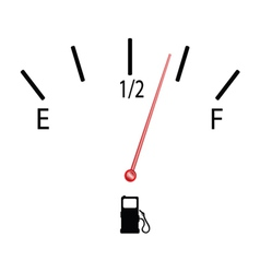 Fuel gauge with symbol vector