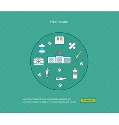 Concept for healthcare vector