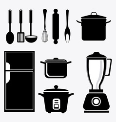 Kitchen design vector