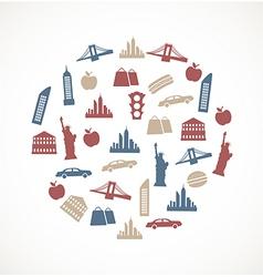 New york symbols vector