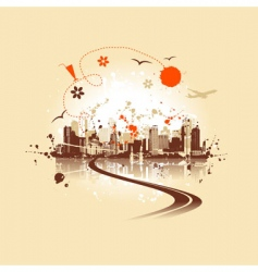 Cityscape background urban art vector