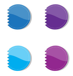 Set of violet and blue banners vector