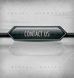 Contact us button vector
