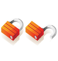 Isometric icons of locks vector
