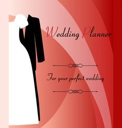 Wedding planner background vector