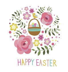 Easter art post card vector