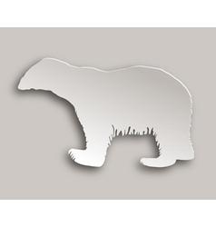 Polar bear paper style vector