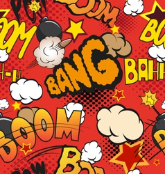 Comic book explosion seamless pattern vector