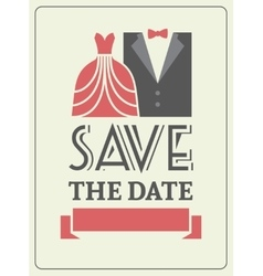 Save the date invitation card concept vector